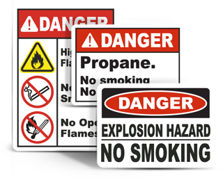 Flammable Materials Signs