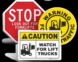 Forklift Signs