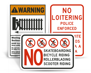 Property Control Signs