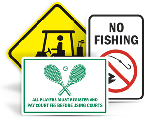 Recreation Signs