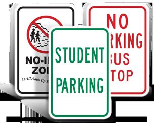 School Parking Signs