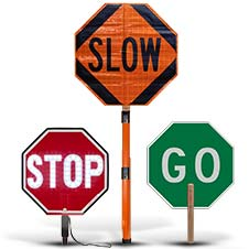Stop and Go Signs and Paddles