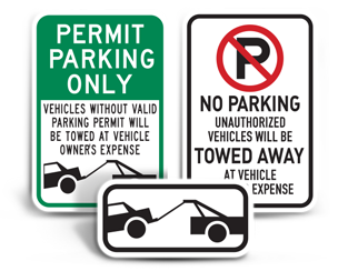 Tow-away Signs