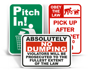 Waste Control Signs