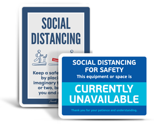 Gym Social Distancing Signs