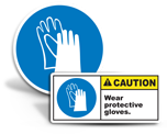 Hand Protection Required Labels