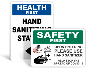Hand Sanitizer Signs