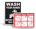 Hand Washing Labels