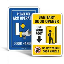 Hands Free Door Opener Signs