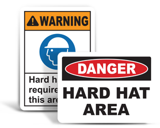 Hard Hat Area Signs