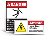 Hazardous Voltage Lockout Labels