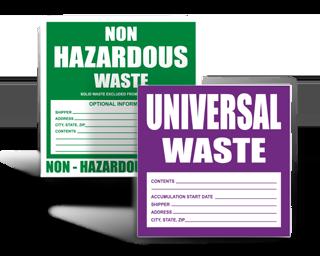 Hazardous Waste Stickers
