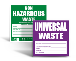 Hazardous Waste Stickers