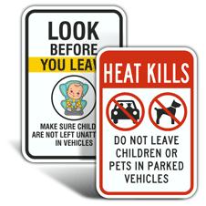 Heat Warning Car Signs