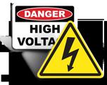 High Voltage Labels