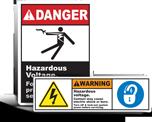 High Voltage Lockout Labels