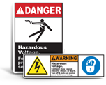 High Voltage Lockout Labels