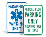 Hospital Parking Signs