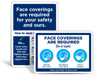 How to Wear a Face Mask Signs