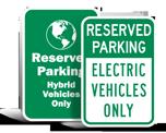 Low Emission Vehicle Parking Signs