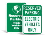 Low Emission Vehicle Parking Signs