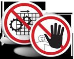 ISO Prohibition Symbol Labels