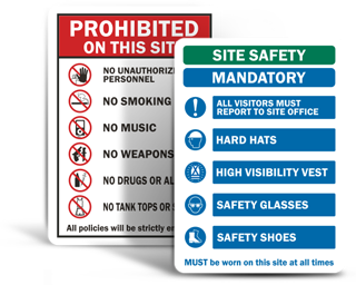 Job Site Safety Signs