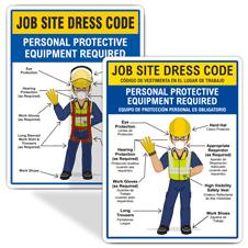 Jobsite Dress Code Signs