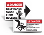 Keep Hands Clear Labels