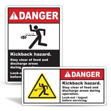 Kickback Hazard Labels