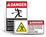 Kickback Hazard Labels