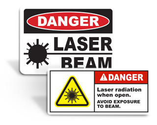 Laser Safety Signs