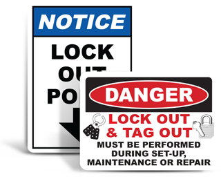 Lockout Safety Signs