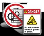 Machine Guarding Labels
