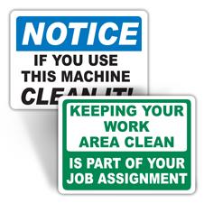 Machine Maintenance Labels