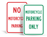 Motorcycle Parking Signs