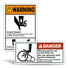 Moving Parts Hazard Labels