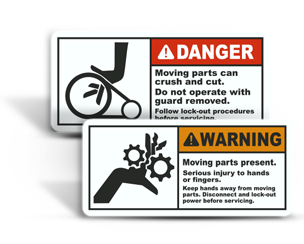 Moving Parts Hazard Labels