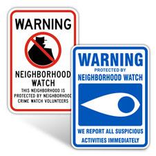 Neighborhood Watch Signs