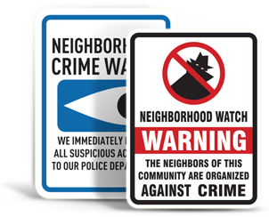 Crime Watch Signs