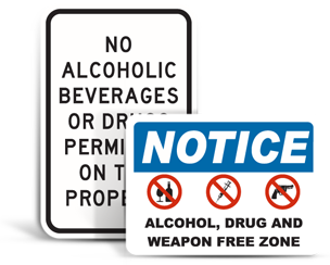 No Alcohol Signs