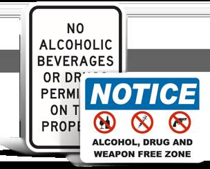 No Alcohol Signs