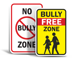 No Bully Zone Signs