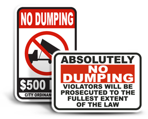 Illegal Dumping Signs