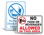 No Food Or Drink Signs