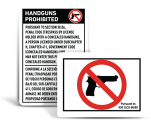 No Gun Signs By State