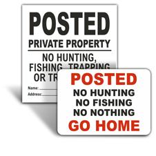 No Hunting Signs