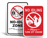 No Idling Signs