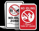 No Engine Idling Signs