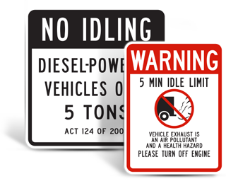 Turn Off Engine Signs